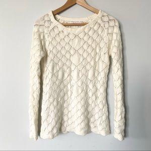 ALFRED SUNG Small White Bubble Sweater